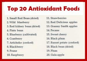 top 20 foods