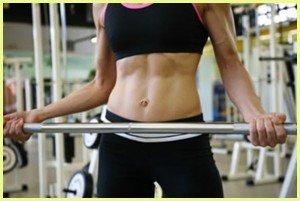 woman strength training