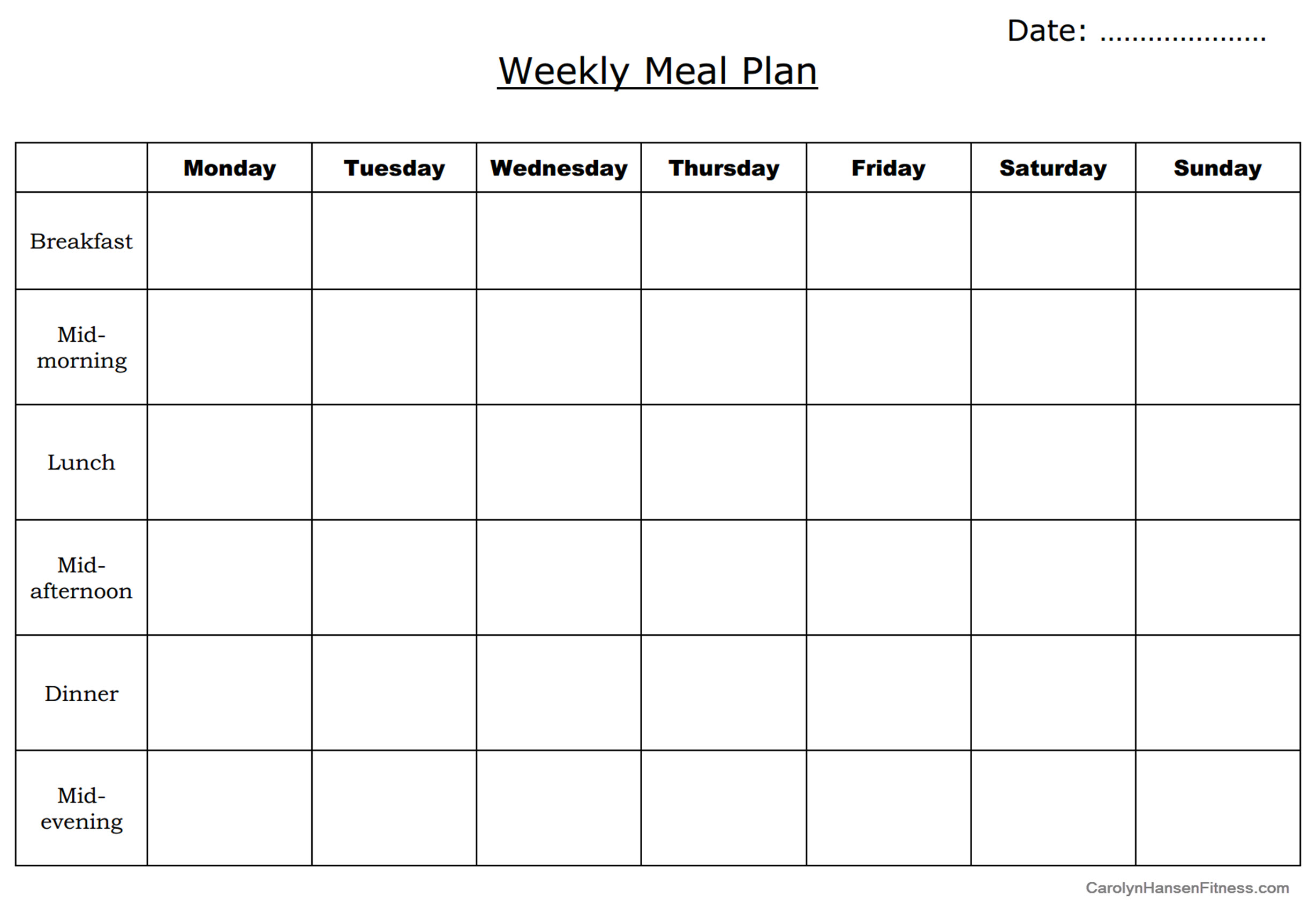 how to make a meal planner koni polycode co